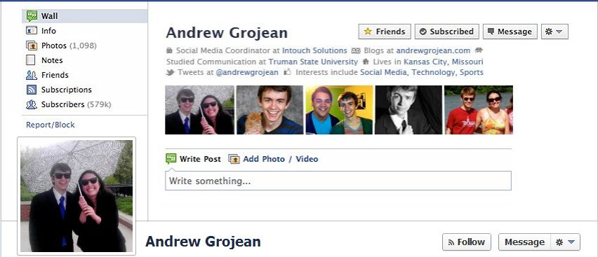 The Old Faceebook Profile