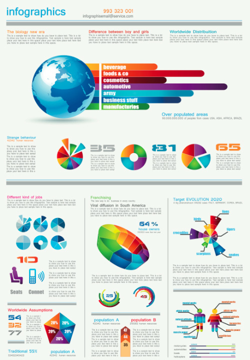 20 Free and Easy to Adjust Infographic Templates