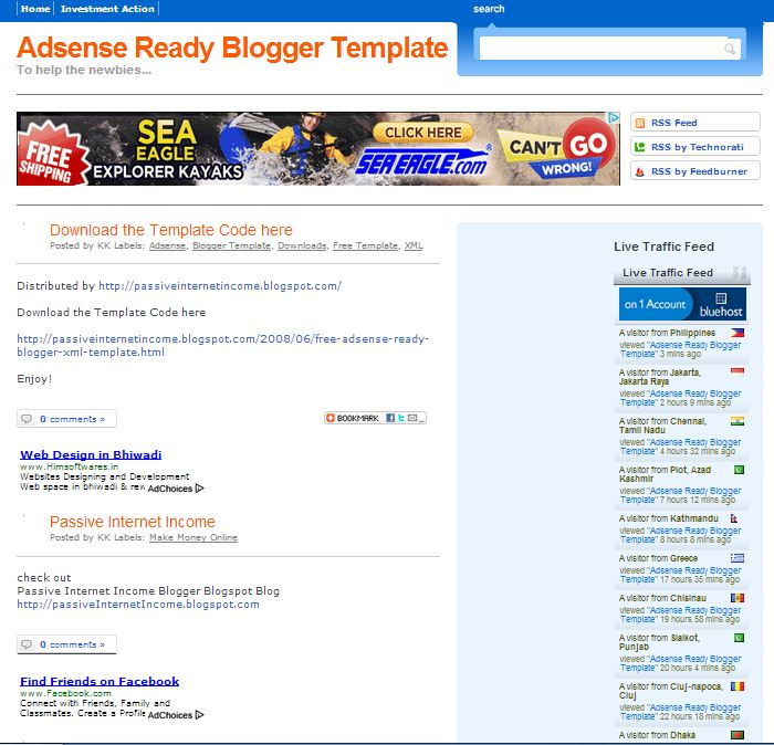 Adsense Blogger Templates 15 Free Blogger Templates for Google AdSense