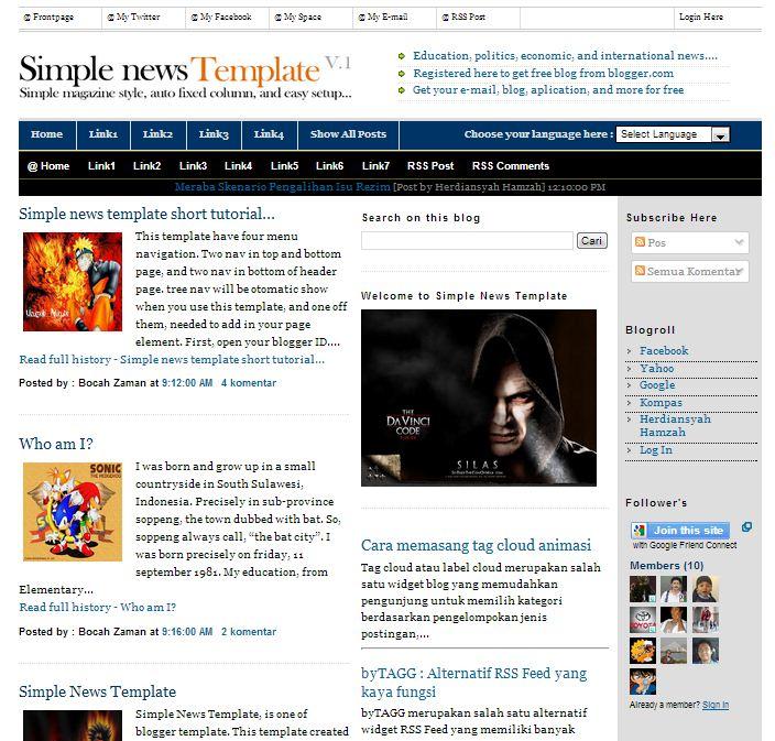 15 Free Blogger Templates for Google AdSense