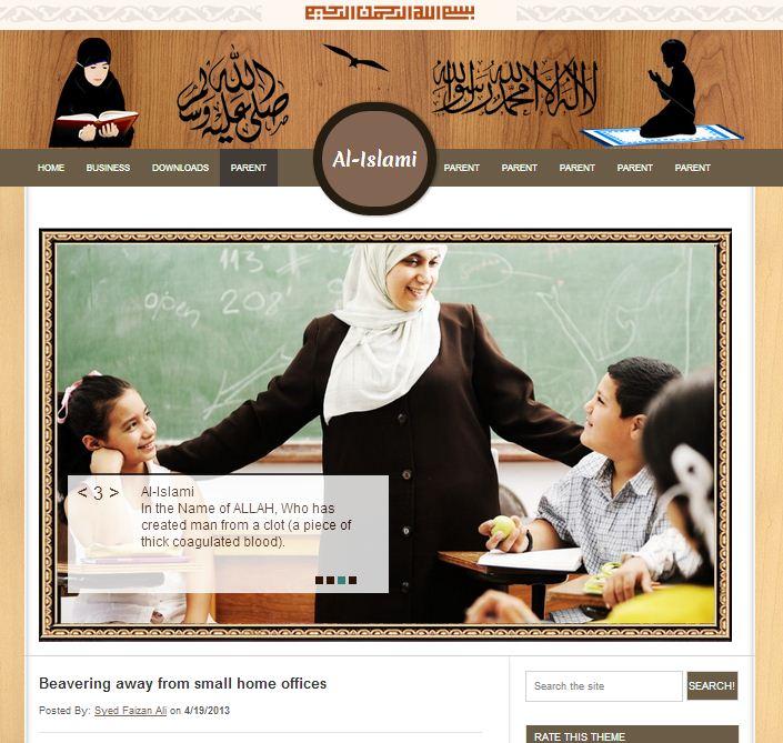 al-islamic-blogger-template