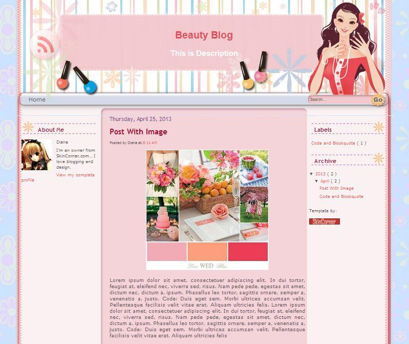 beauty-blogger-template