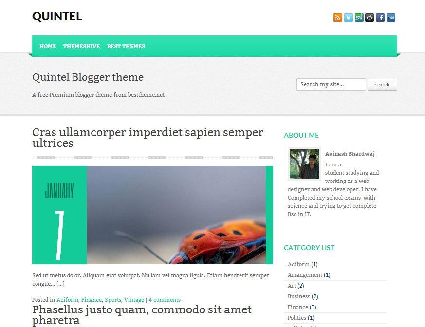 quintel-blogger-template