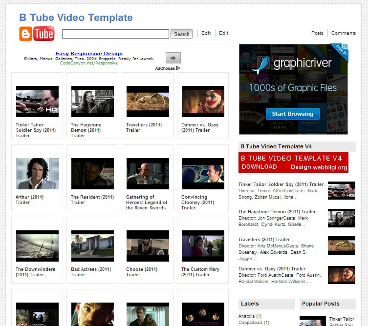 B Tube Video Template