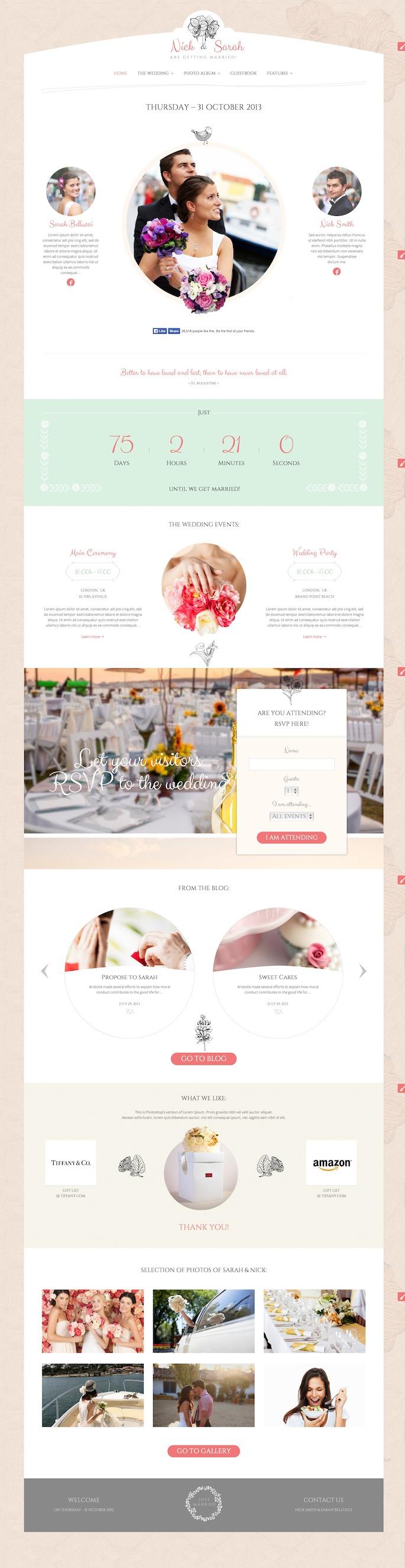Wedding Day WordPress Theme