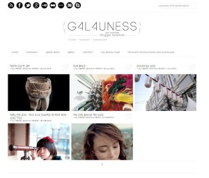 Galauness Responsive Blogger Template