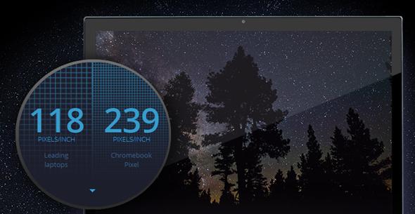 Chromebook pixel High Res Display