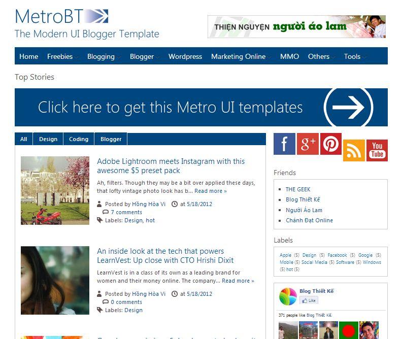 15 free blogger templates for google adsense 13 metro btk metrobt pronofoot35fo Images