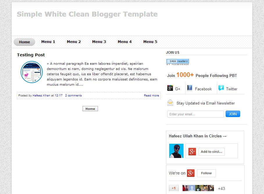 Simple White Clean