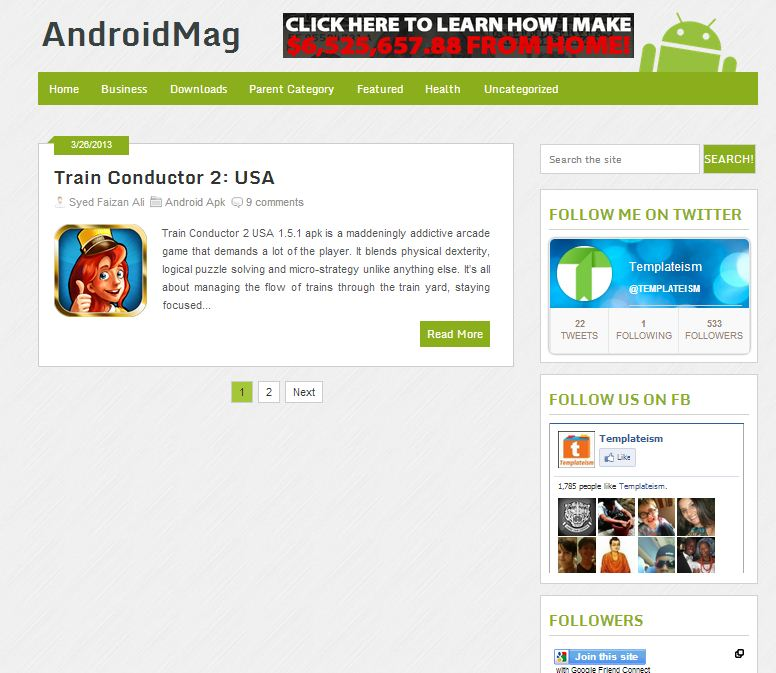 androidmag-blogger-template