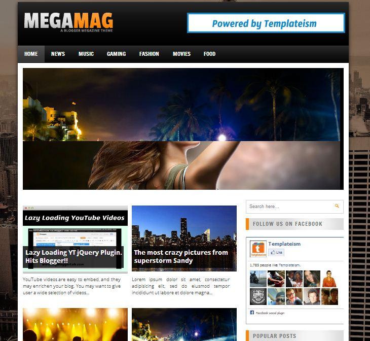megamag-blogger-template