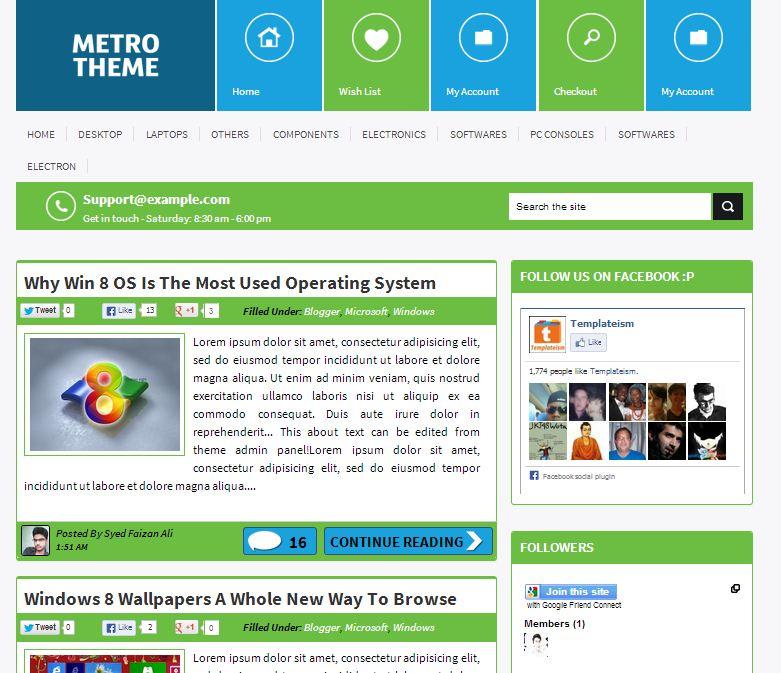 metro-ui-blogger-template