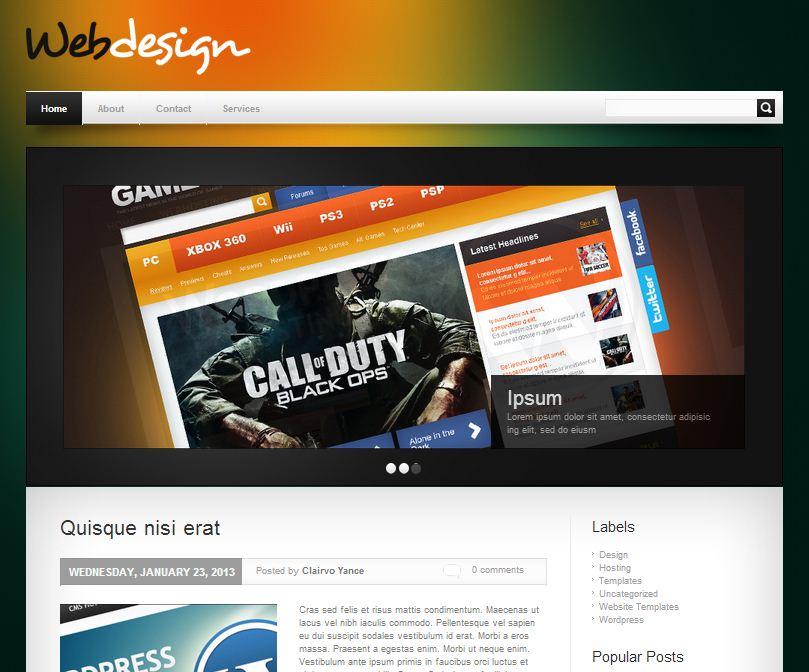 webdesign-blogger-template
