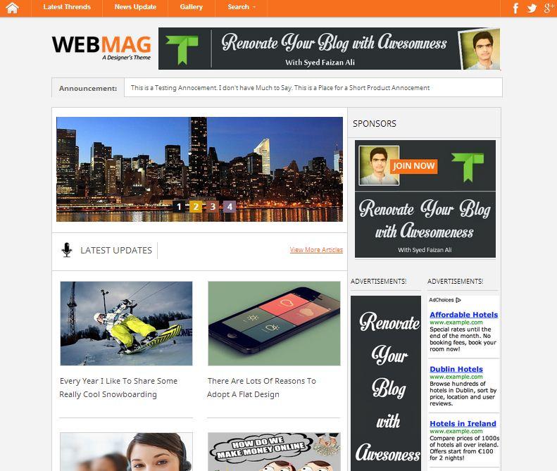 webmag-blogger-template