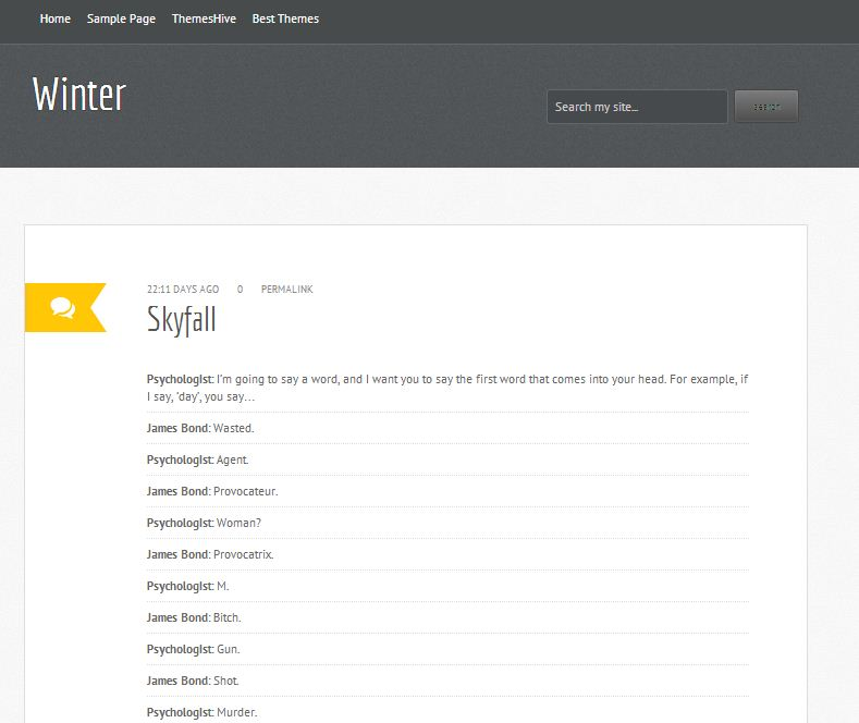 winter-blogger-template