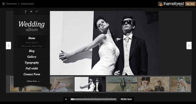 Wedding Album WordPress Theme